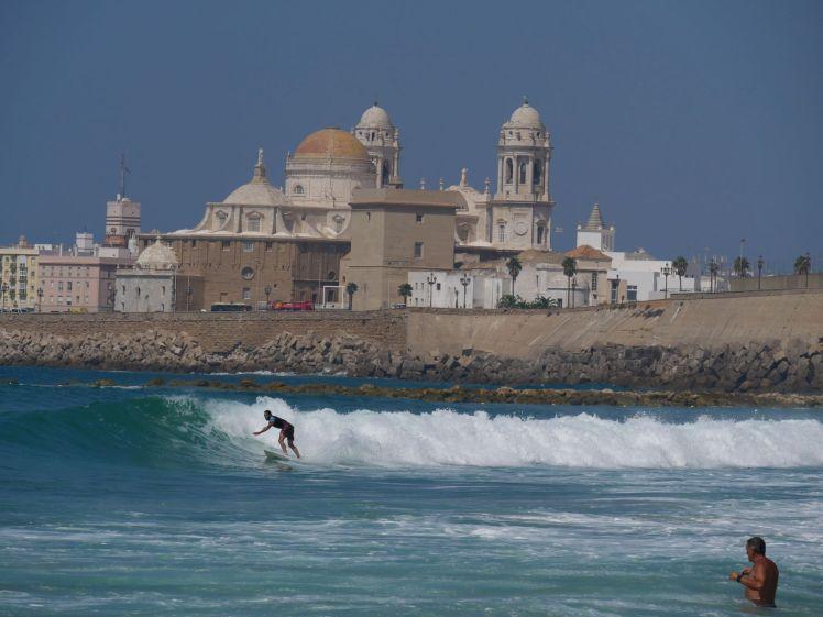 Surfen vor Cadiz